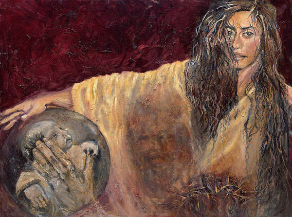 Wall Art - Painting - Veronica Wipes The Face Of Jesus by Patricia Trudeau