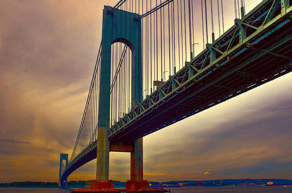 Photograph - The Verrazano - Narrows Bridge by Louis Dallara