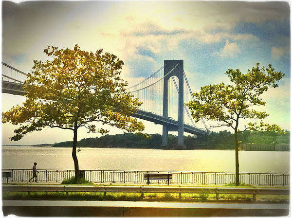 Photograph - Verrazano Bridge From Brooklyn by Frank Winters
