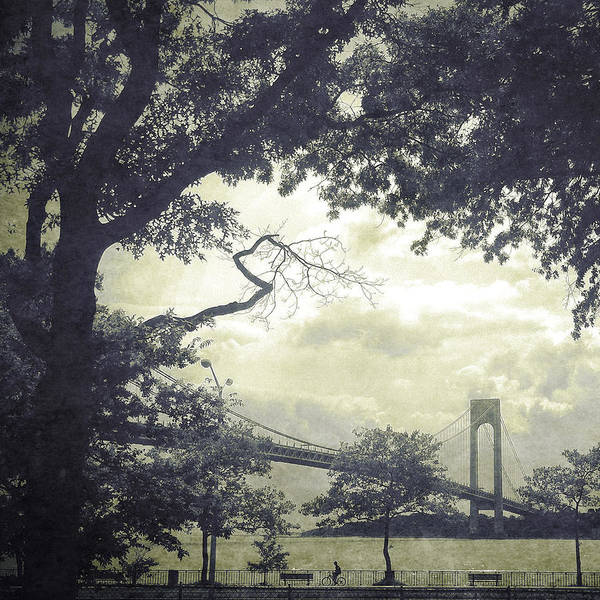Photograph - Verrazano Bridge From South Brooklyn by Frank Winters