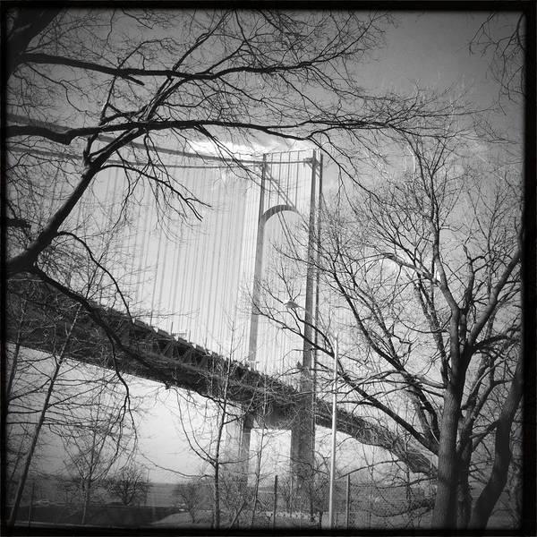 Photograph - Verrazano-narrows Bridge B And W by Frank Winters