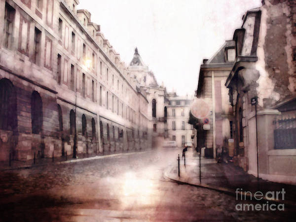 Versailles Wall Art - Photograph - Versailles France Cobblestone Streetscape  - Romantic Versailles Architecture Painting  by Kathy Fornal