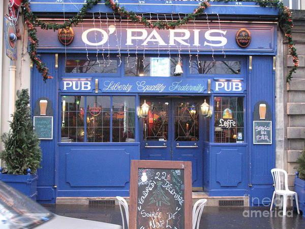 Versailles Wall Art - Photograph - Versailles France Restaurants -  Irish Pub O' Paris  by Kathy Fornal