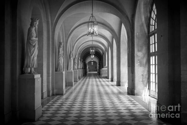 Checker Photograph - Versailles Hallway by Inge Johnsson