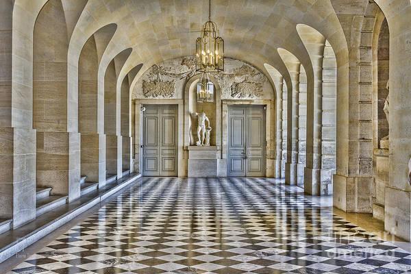 Photograph - Versailles Palace Hallway by Elaine Teague
