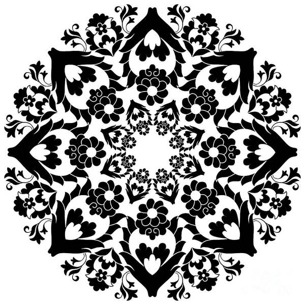 Symmetrical Digital Art - Versions Of Ottoman Decorative Arts by Antsvgdal