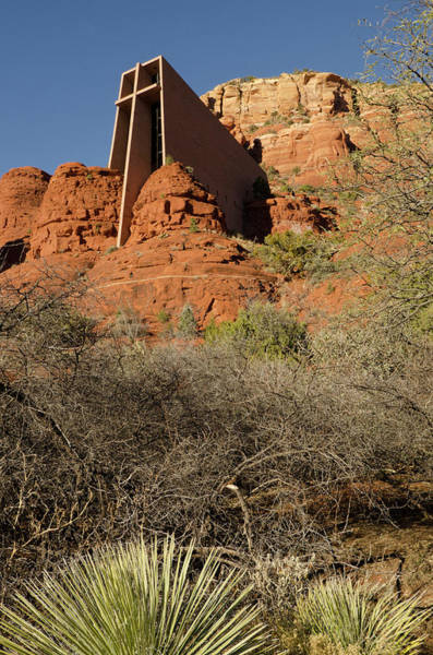 Stoney Photograph - Vertical View Of Chapel Of The Holy by Jan and Stoney Edwards