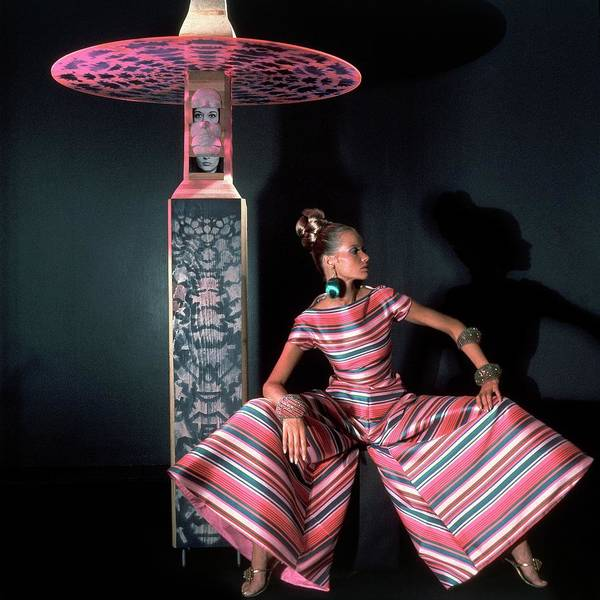 Young Adult Photograph - Veruschka Von Lehndorff Wearing Arnold Scaasi by Horst P. Horst