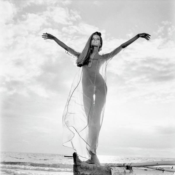 1960s Photograph - Veruschka Wearing A Bete Collection Nightdress by Franco Rubartelli