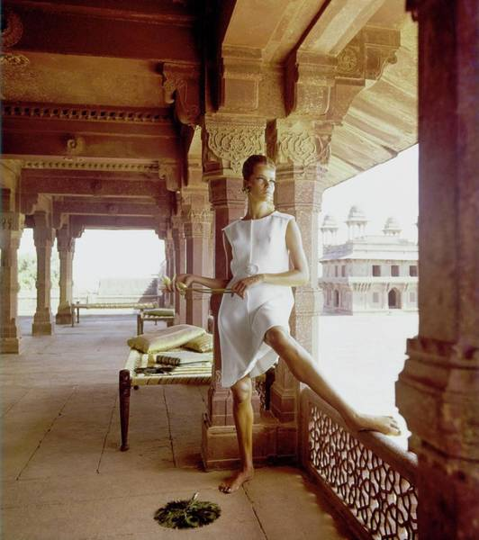 Official Residence Photograph - Veruschka Wearing A John Moore Dress by Henry Clarke