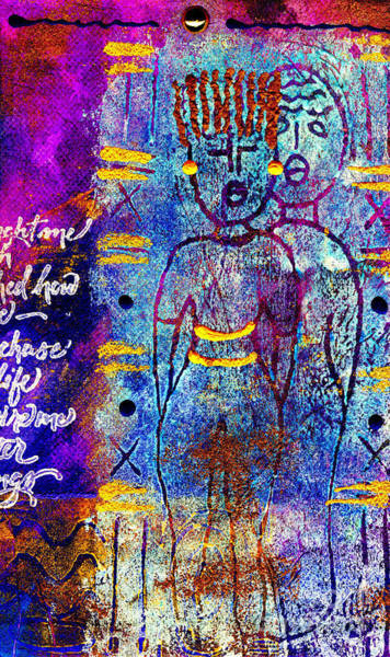 Wall Art - Mixed Media - Very Close Friends by Angela L Walker