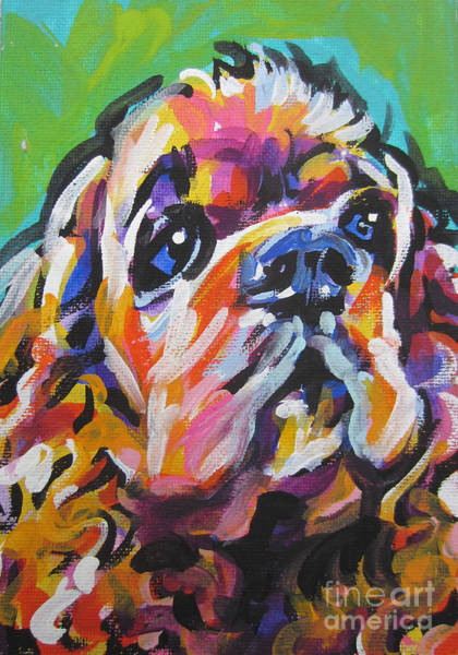 Cocker Spaniel Painting - Very Cocky by Lea S