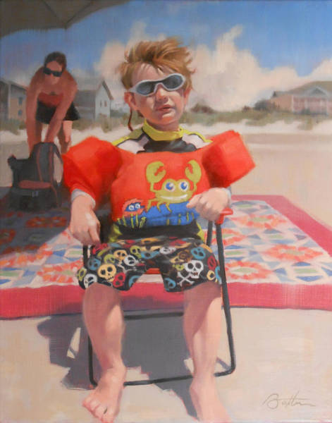 Myrtle Beach Wall Art - Painting - Very Cool Dude by Todd Baxter