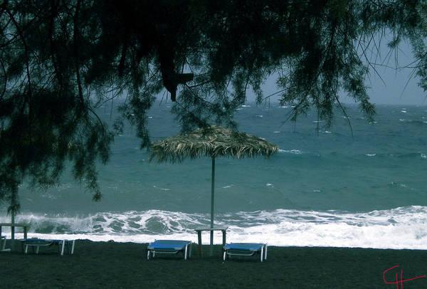 Photograph - Very Early Morning Lava Beach Nature Meditation Santorini Island Greece  by Colette V Hera  Guggenheim