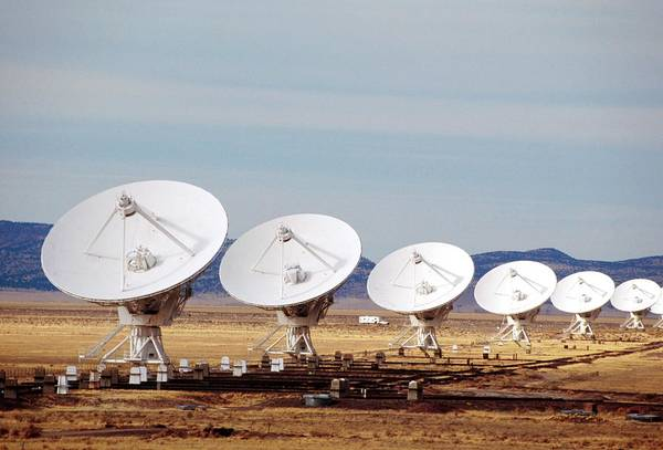Very Large Array Photograph - Very Large Array Antennas by David Hay Jones/science Photo Library