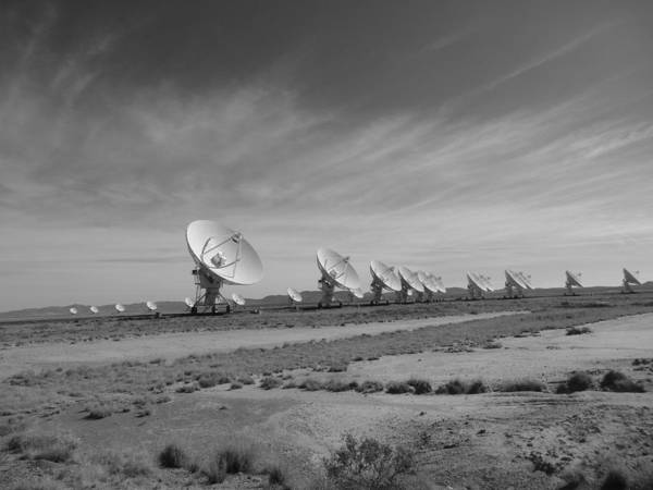Close Encounters Wall Art - Photograph - Very Large Array In Black And White by Dan Sproul