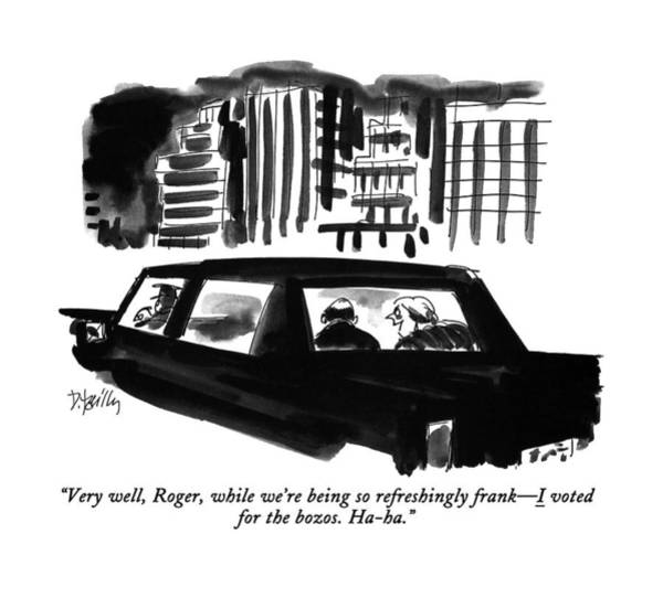 Rich Drawing - Very Well, Roger, While We're by Donald Reilly