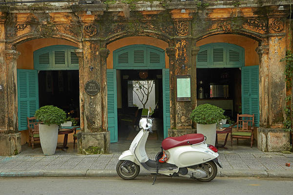 Hoi An Photograph - Vespa Scooter And The Hill Station Deli by David Wall