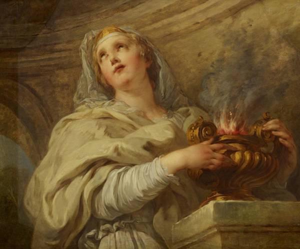 Eternal Painting - Vestal Virgin by Francois Lemoyne