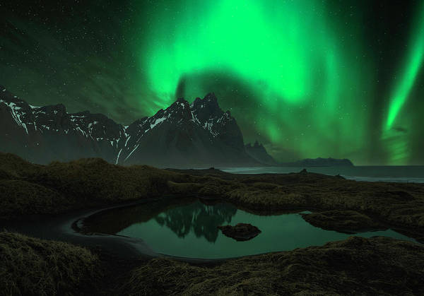 Dark Green Wall Art - Photograph - Vesturhorn by Jingshu Zhu