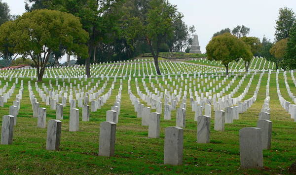 Photograph - Veterans Cemetery by Jeff Lowe