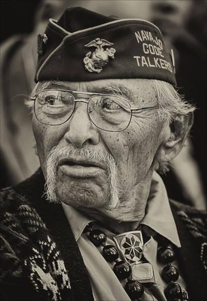 Code Talkers Photograph - Veteran's Day Nyc 2012 11 11 12 20 Navajo Code Talker by Robert Ullmann
