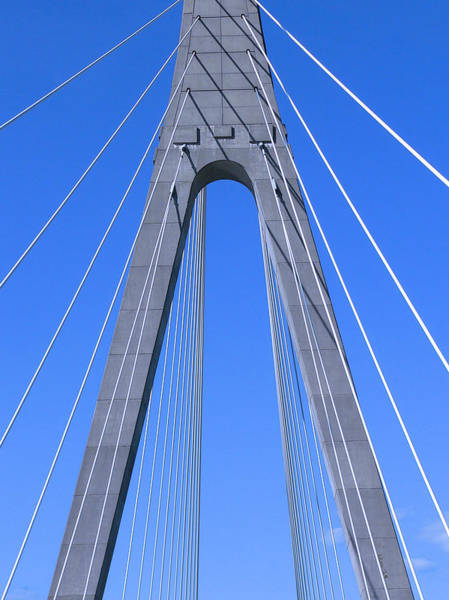 Photograph - Veterans Memorial Bridge Over The Ohio River by Kathy K McClellan