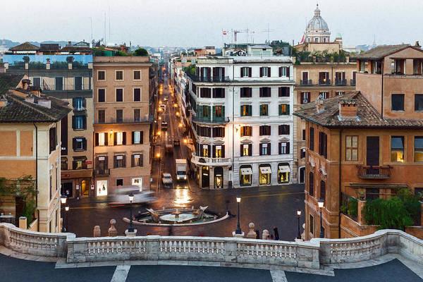 Digital Art - Via Condotti Waking Up - Impressions Of Rome by Georgia Mizuleva