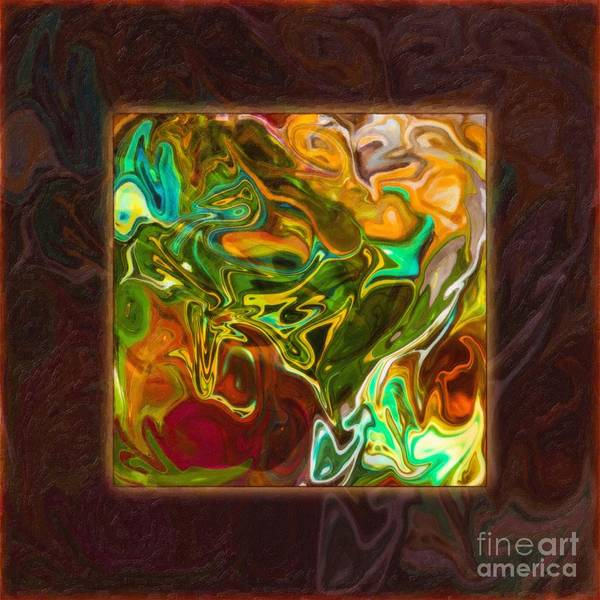 Vibrant Fall Colors An Abstract Painting Art Print
