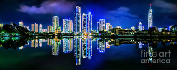 Light Blue Photograph - Gold Coast Shines by Az Jackson