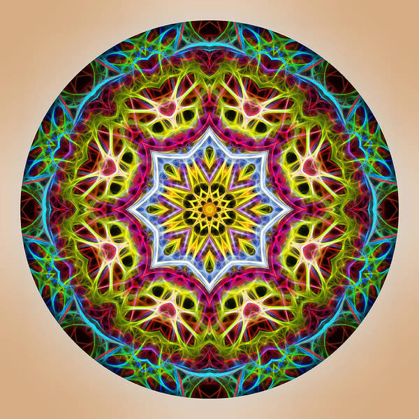 Photograph - Vibrant Mandala by Beth Sawickie