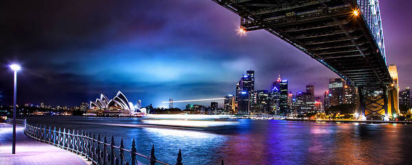 Light Blue Photograph - Vibrant Sydney Harbour by Az Jackson