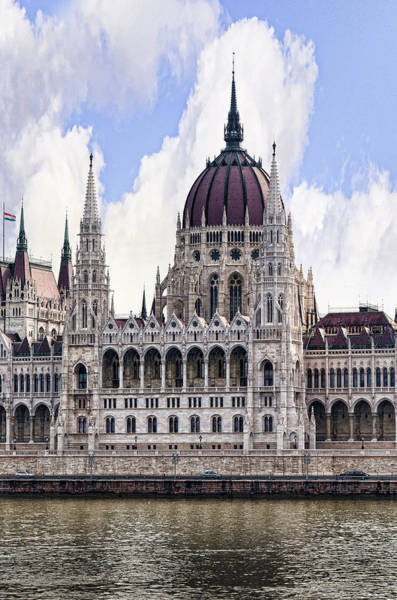 Photograph - Vibrant View Of Facade Of Houses Of Parliament by Brenda Kean