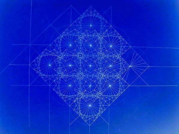 Fractal Drawing - Vibrating Space Time by Jason Padgett
