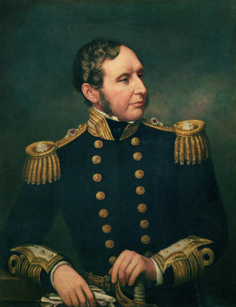 Wall Art - Photograph - Vice Admiral Robert Fitzroy 1805-65 Admiral Fitzroy Led The Expedition To South America 1834-36 by Samuel Lane