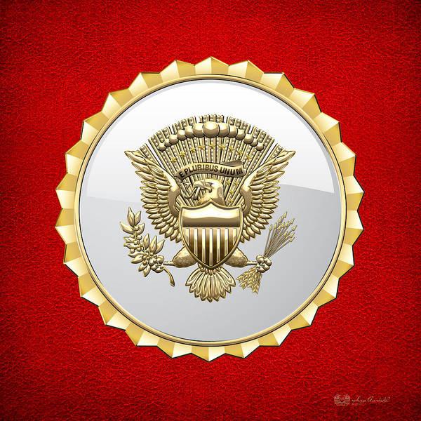 Digital Art - Vice Presidential Service Badge by Serge Averbukh