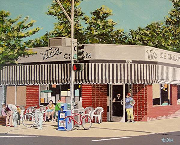 Wall Art - Painting - Vic's Ice Cream No. 3 by Paul Guyer