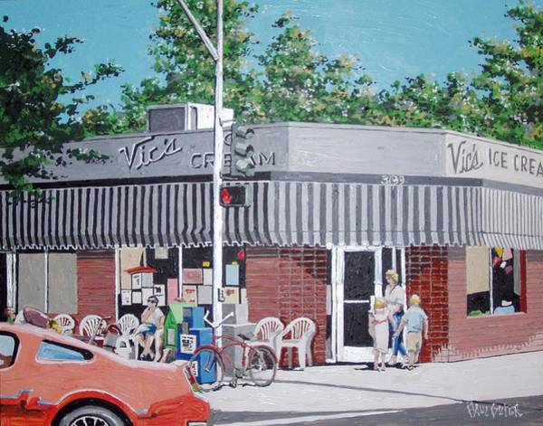 Wall Art - Painting - Vic's Ice Cream No. 4 by Paul Guyer