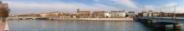 Rhone River Photograph - Victor Augagneur Bridge Over The Rhone by Panoramic Images