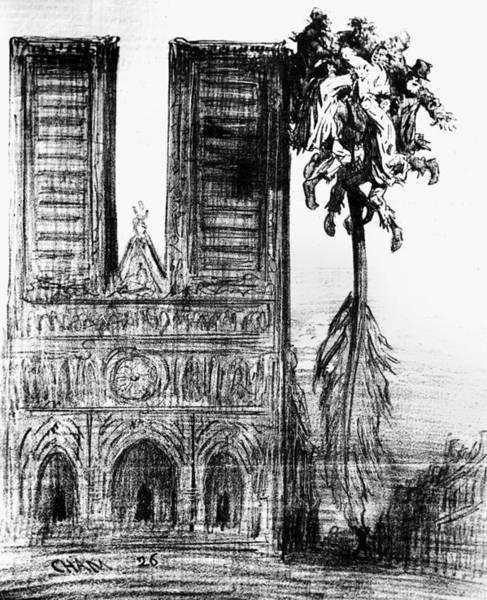 Miserable Drawing - Victor Hugo Cartoon, 1862 by Granger