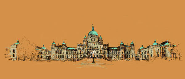 Victoria Bc Wall Art - Painting - Victoria Art 005 by Catf