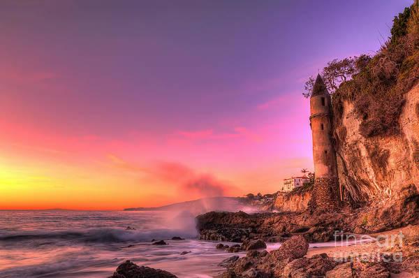 Victoria Beach At Sunset Art Print