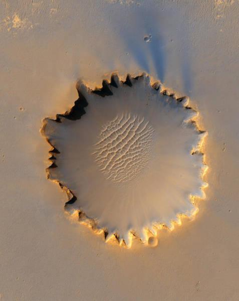 Photograph - Victoria Crater Mars by Nasa