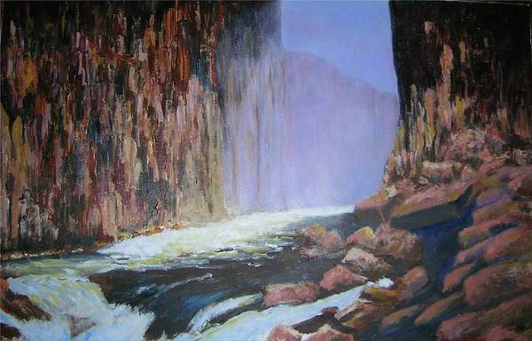 Victoria Falls Painting - Victoria Falls Gorge by Anthony D'Abramo