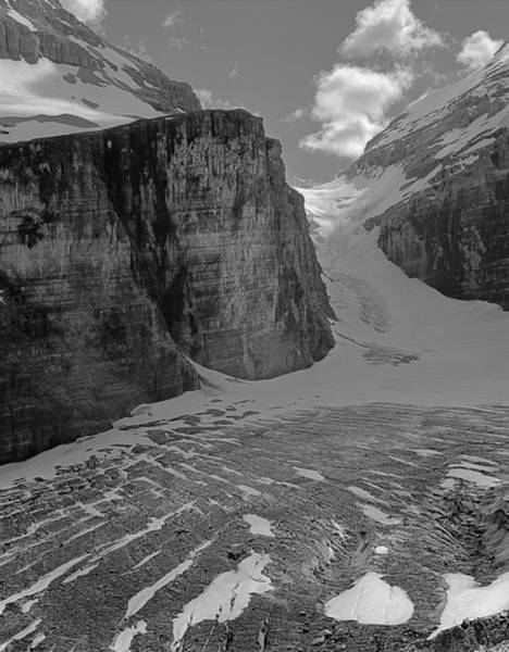 Photograph - 1m3526-bw-victoria Glacier In The Death Trap  by Ed  Cooper Photography