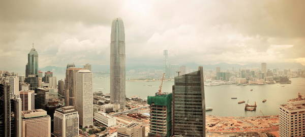 Photograph - Victoria Harbor Aerial View  by Songquan Deng