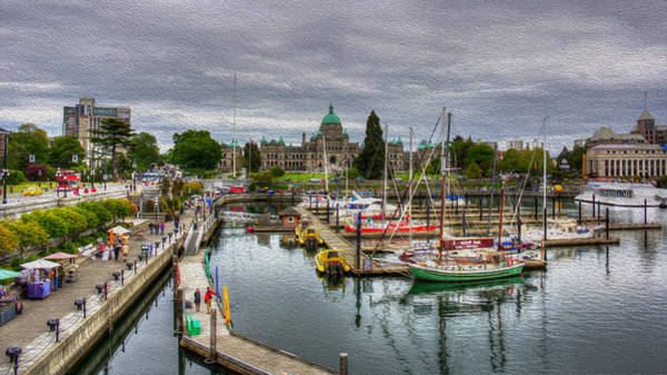Photograph - Victoria Inner Harbour by Carrie Cole