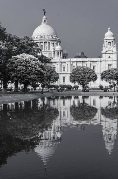 Wall Art - Photograph - Victoria Memorial Reflection Of The Past by Debrup Chatterjee
