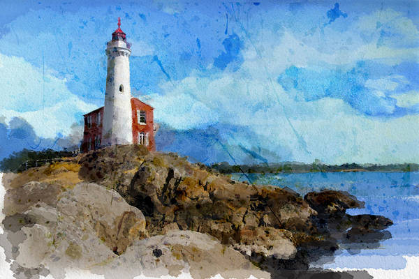 Vancouver Island Wall Art - Painting - Victoria Scenery 1 by Mahnoor Shah