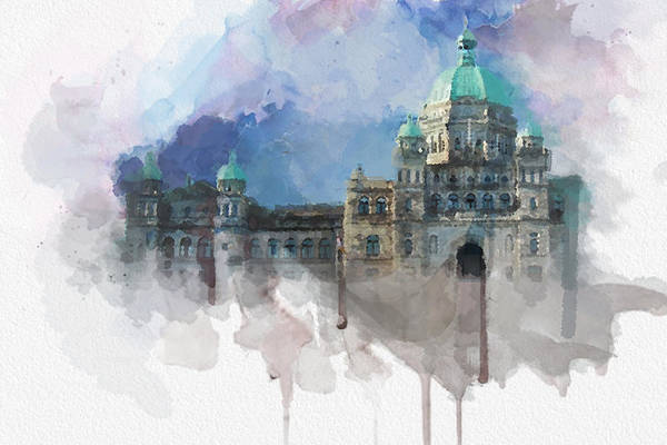 Vancouver Island Wall Art - Painting - Victoria Scenery 4 by Mahnoor Shah